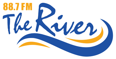 88.7 The River Logo