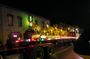 Santa's float at the 2016 Mount Forest Santa Claus parade.